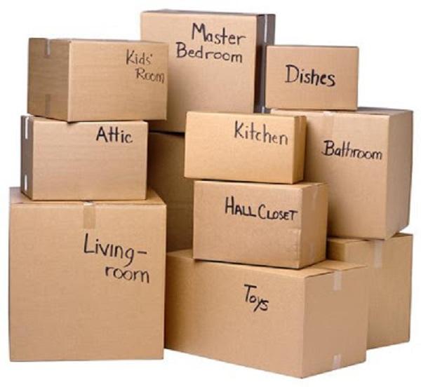 Đánh dấu các thùng theo tên để dễ dàng cho việc tìm kiếm