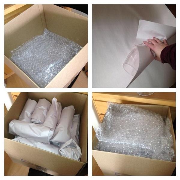 Nên chèn thêm vào thùng đựng hàng dễ vỡ các loại bọc xốp để hạn chế va đập các đồ đạc bên trong