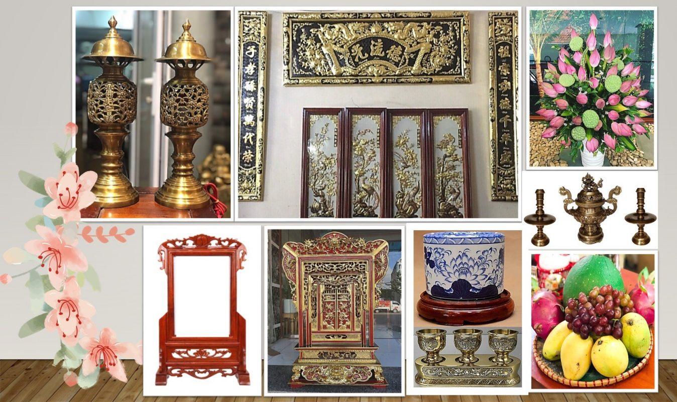 Cách bài trí bàn thờ tiêu chuẩn phải có đầy đủ lễ vật