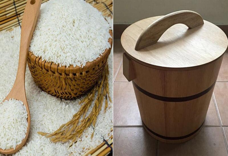 Khi dọn vào nhà mới gia chủ hãy đặt túi vải đỏ nhỏ ở dưới đáy thùng đựng gạo và đổ đầy gạo vào thể hiện ý nghĩa no đủ