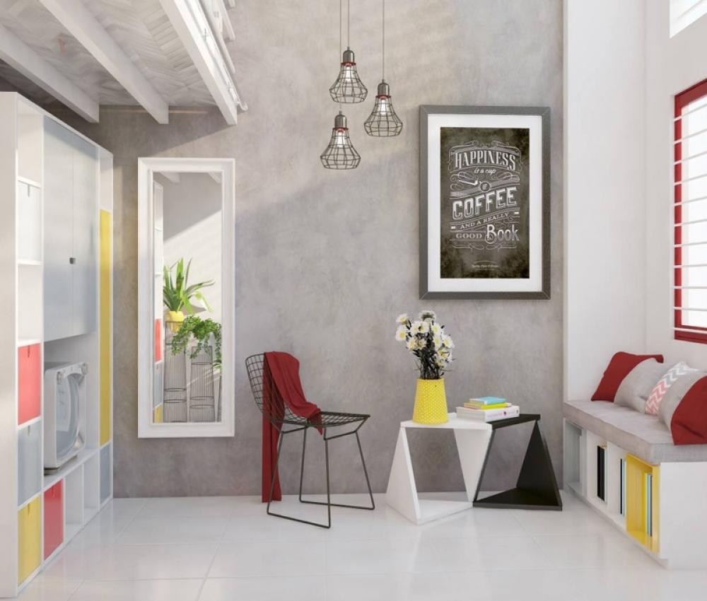 Trang trí phòng trọ đơn giản bằng tranh giúp bạn giảm bớt mệt mỏi khi ngắm nhìn