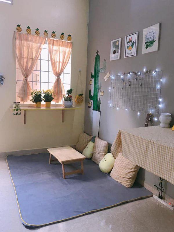 Cách bố trí phòng trọ đơn giản mà đẹp